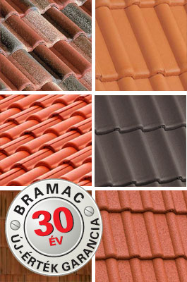 30 év új-érték garancia a Bramac tetőcserepekre