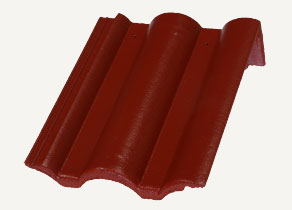Mediterrán Danubia Resistor merlot félnyeregtető cserép