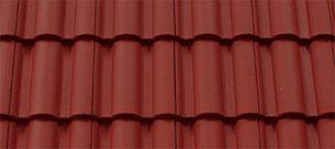 Mediterrán Danubia ColorSystem bordó tetőcserép