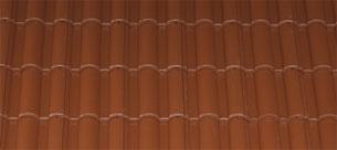 Mediterrán Danubia Resistor mocca tetőcserép