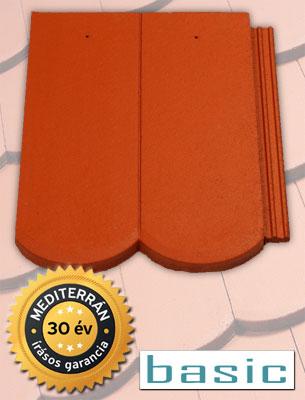Mediterrán Rundo Basic tégla tetőcserép