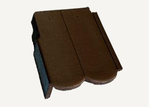 Mediterrán Rundo ColorSystem barna szegélycserép balos
