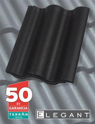 Terrán Synus Elegant fekete tetőcserép