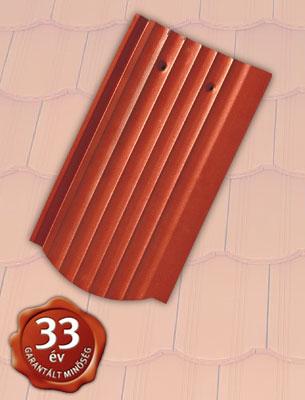 Tondach Hornyolt hullámos ívesvágású piros tetőcserép