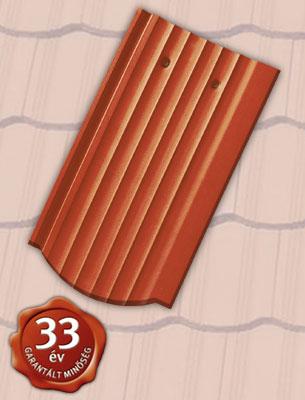 Tondach Hornyolt hullámos ívesvágású téglavörös tetőcserép