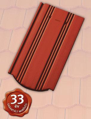 Tondach Hornyolt ívesvágású piros tetőcserép
