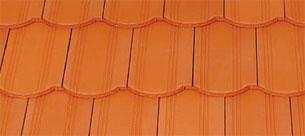 Tondach Hornyolt ívesvágású téglavörös tetőcserép